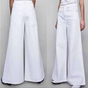 Zara Vintage High Waisted Flare Premium Denim Pant